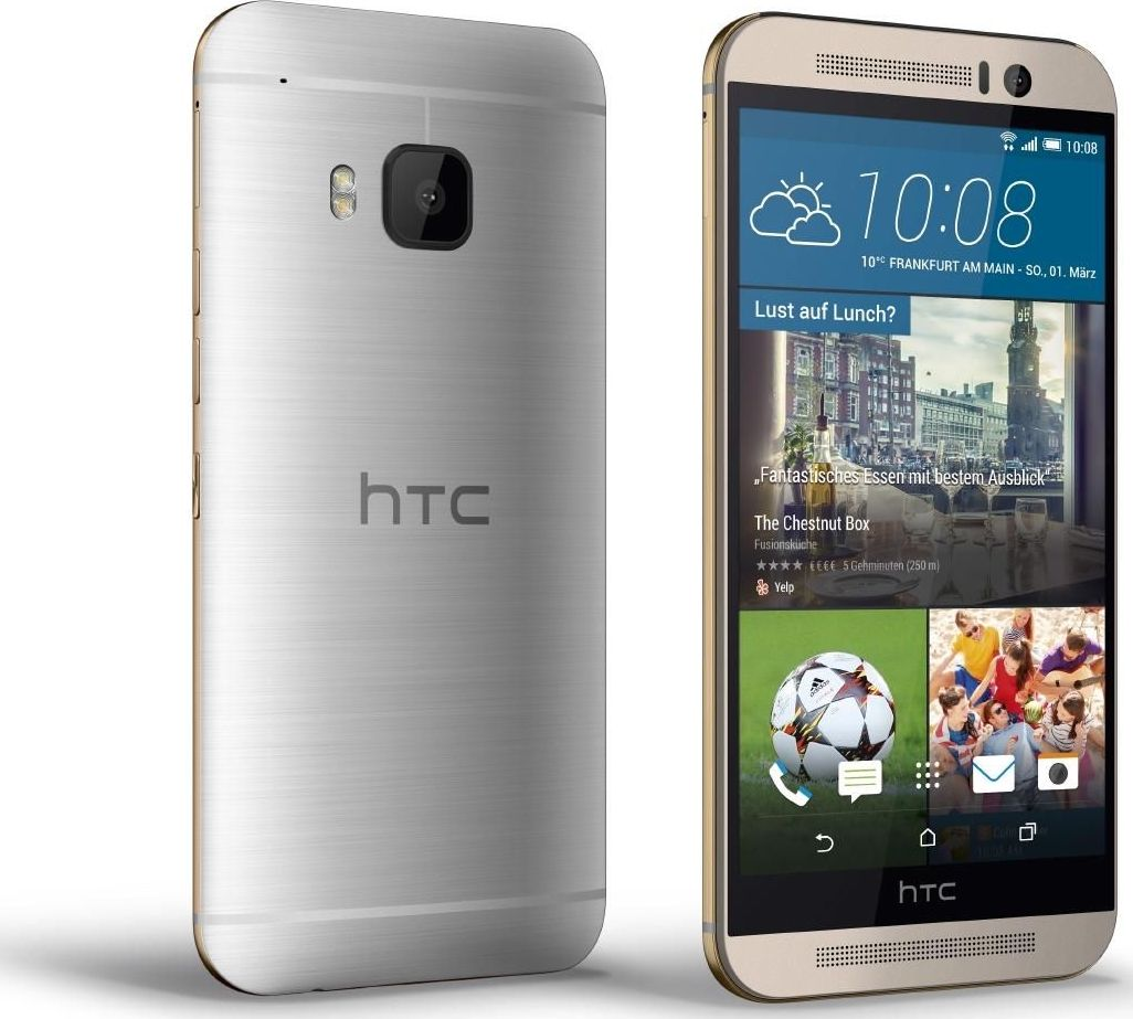 HTC One M9 silver face dos