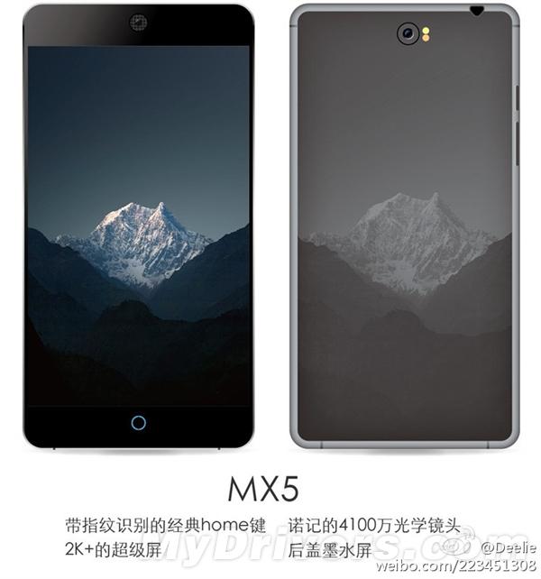 Meizu MX5, un rendu