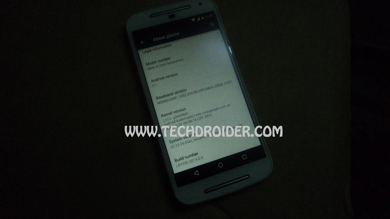 Moto G 2014 sous Android 5.1