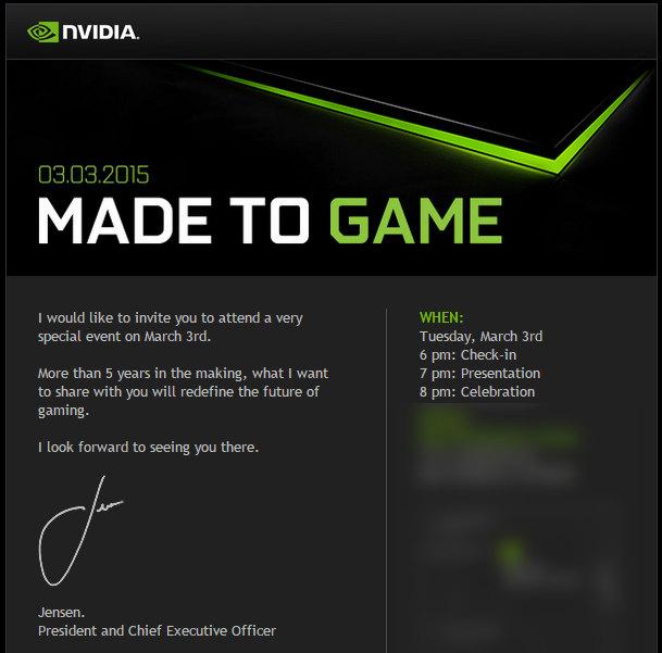 Nvidia Shield Tablet 2, une présentation le 3 mars