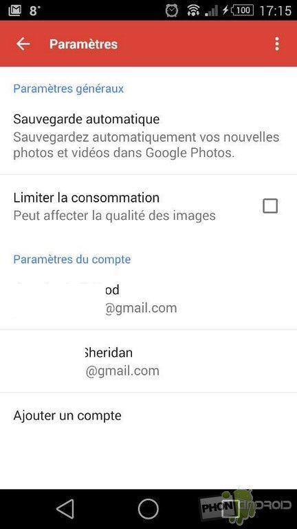 Paramètres Google Plus
