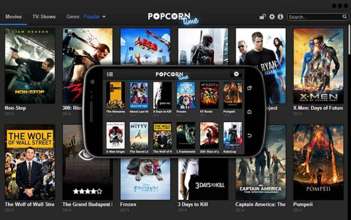 popcorn time streaming anonyme p2p