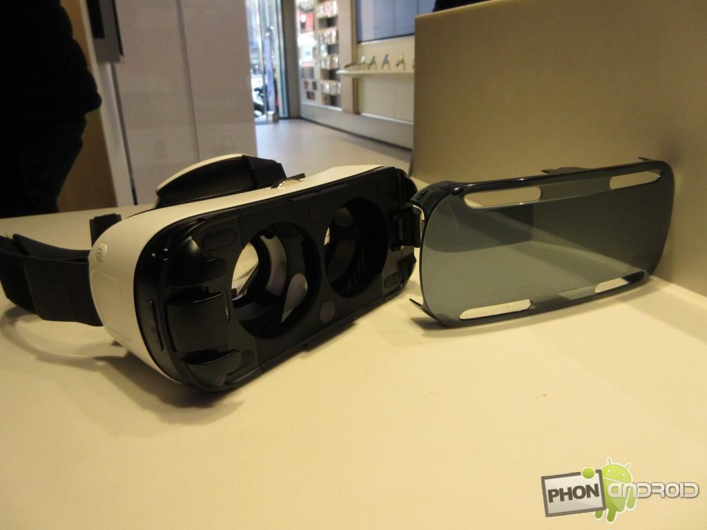 Samsung Gear VR, avec son cache