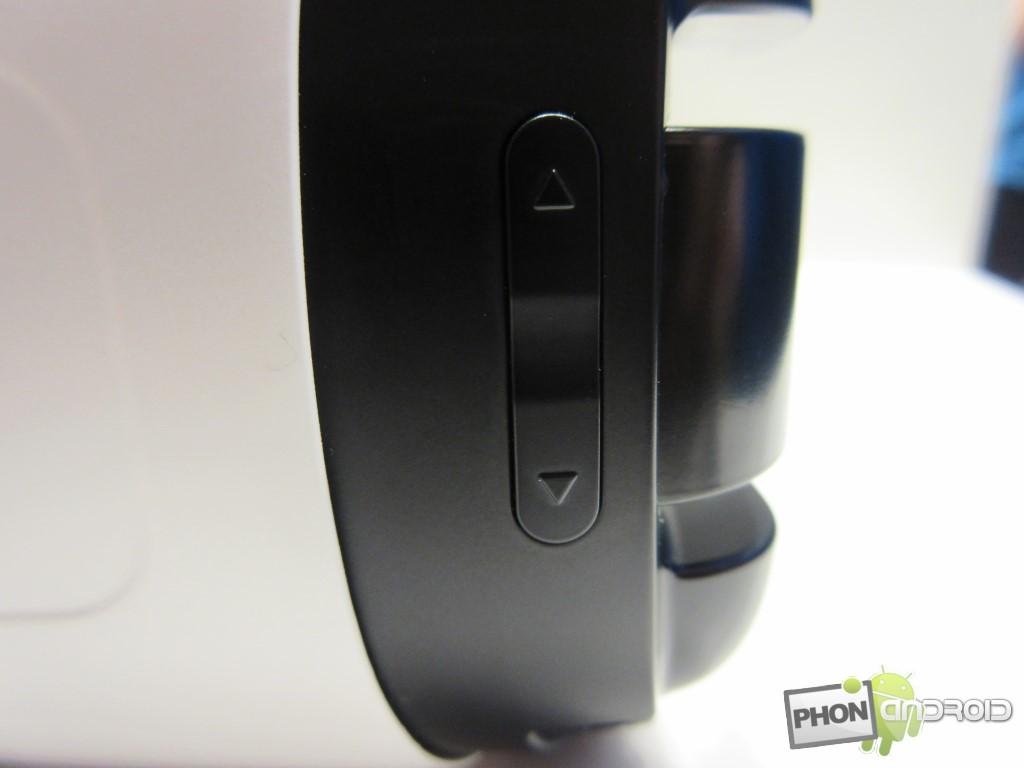 Samsung Gear VR, les boutons de volume