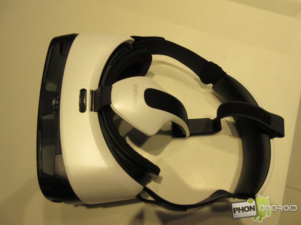 Samsung Gear VR, le dessus du casque