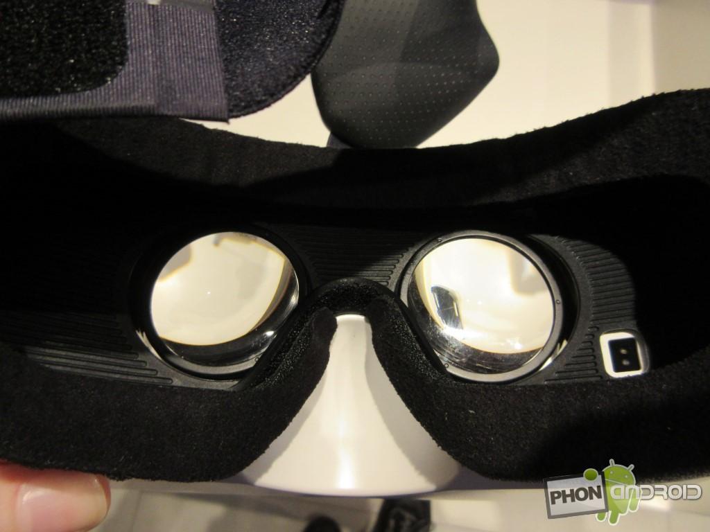 Samsung Gear VR, détail des mousses