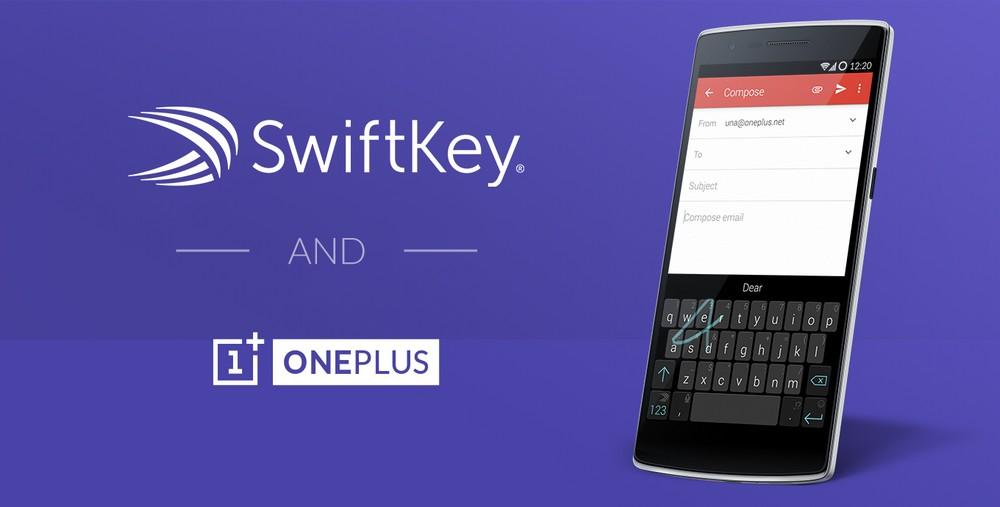 Oneplus en partenariat avec Swiftkey