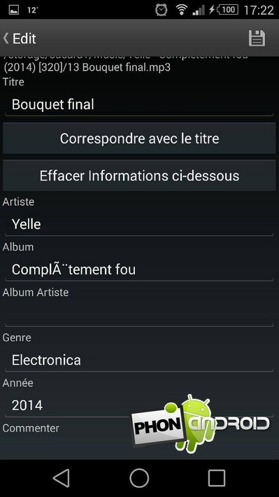 tagger MP3 Android