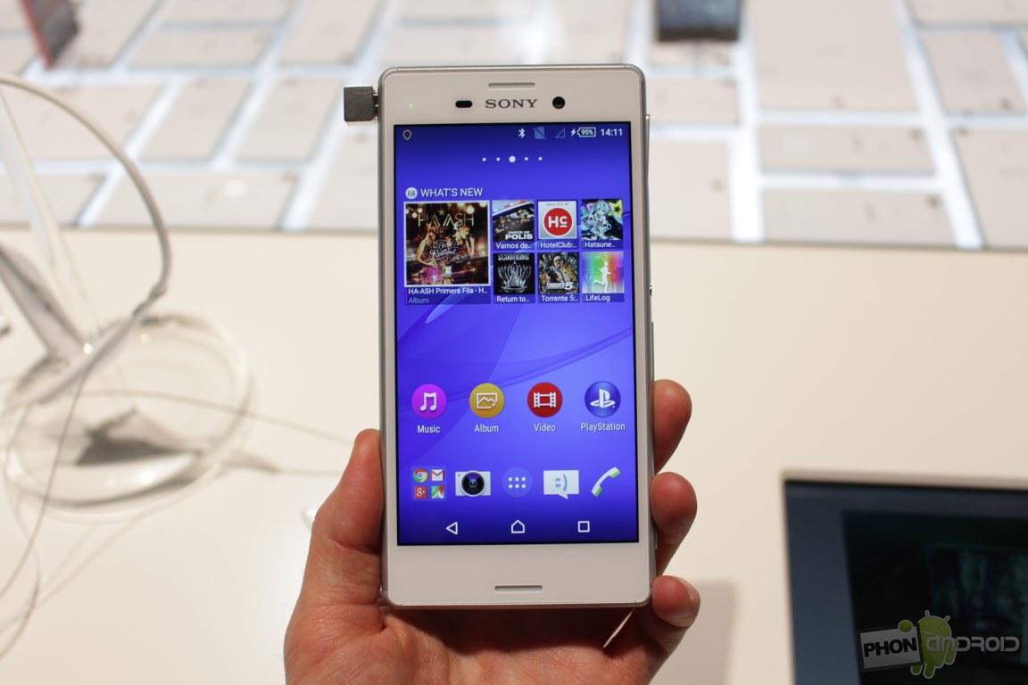Sony Xperia M4 Aqua face