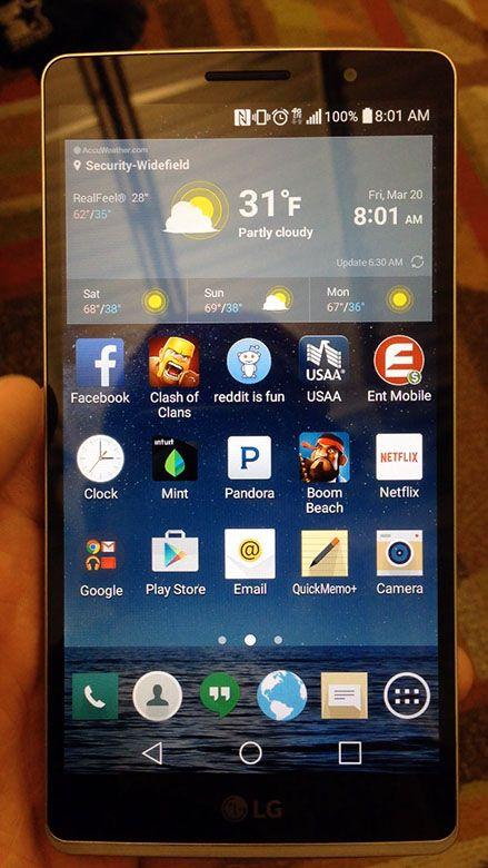 LG G4 accueil