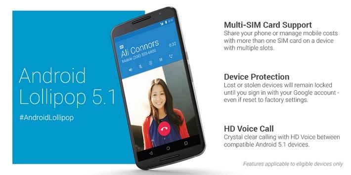 nouveautés android 5.1