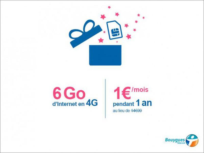 bouygues telecom forfait 6 Go data 1e