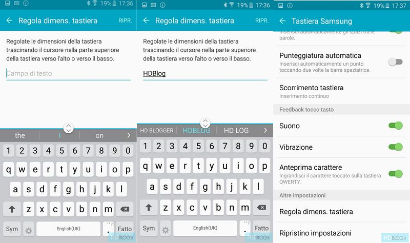 clavier TouchWiz Galaxy S6