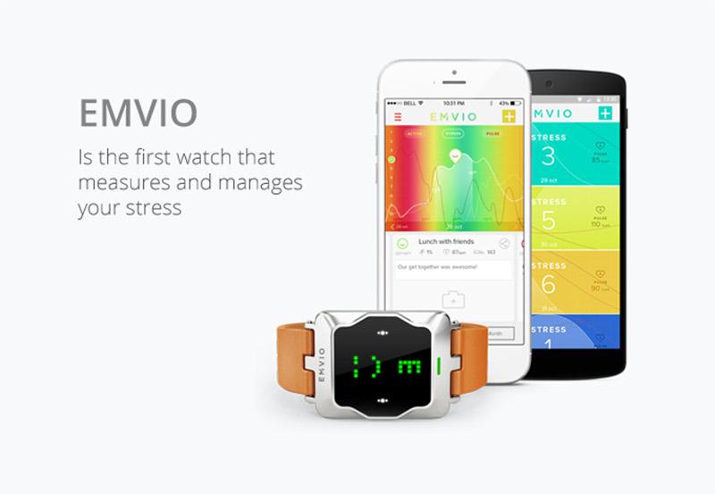 emvio smartwatch anti stress