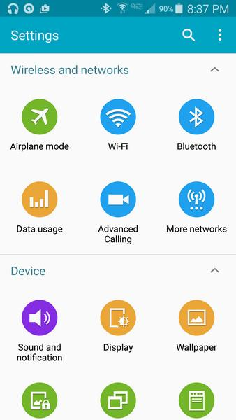 parametres Galaxy S5