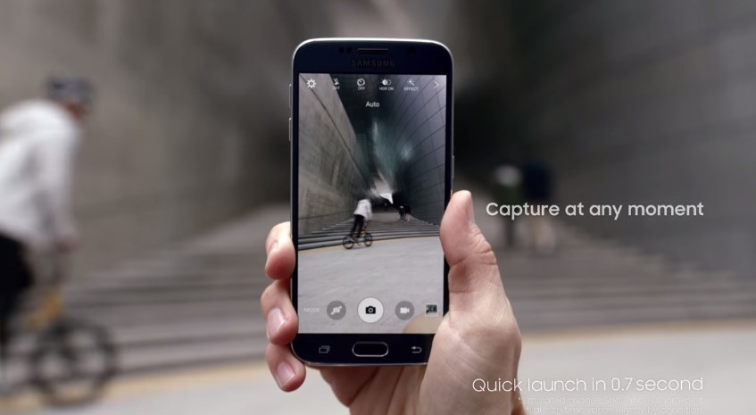 Galaxy S6 capteur photo Quick Launch