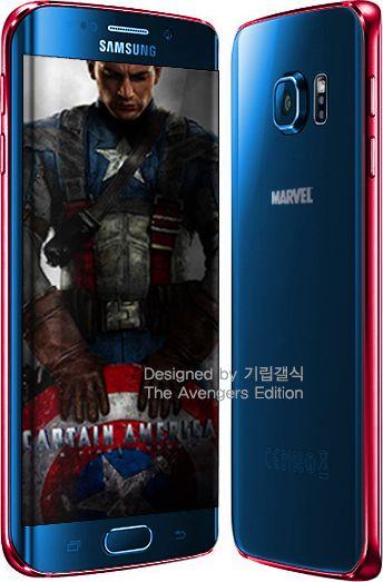 Galaxy S6 Edge Avengers bleu rouge