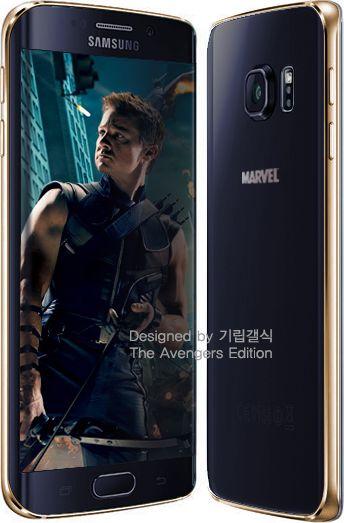 Galaxy S6 Edge Avengers  noir