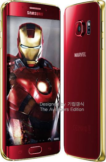 Galaxy S6 Edge Avengers  rouge