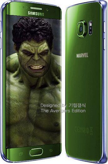 Galaxy S6 Edge Avengers vert