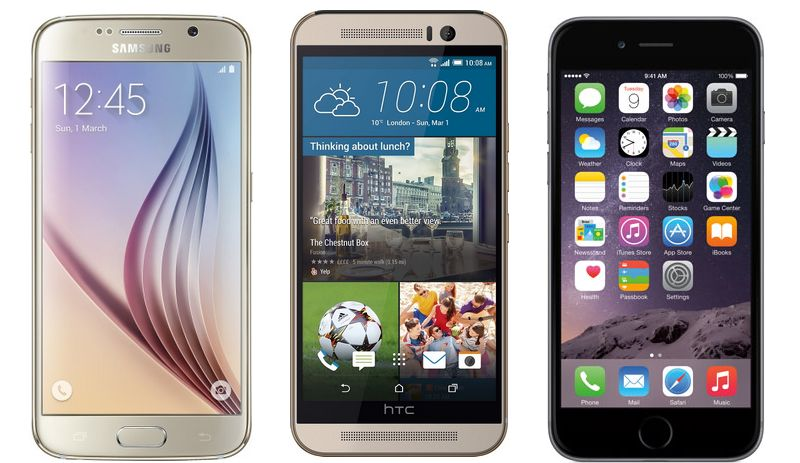 Galaxy S6 vs HTC One M9 vs iPhone 6