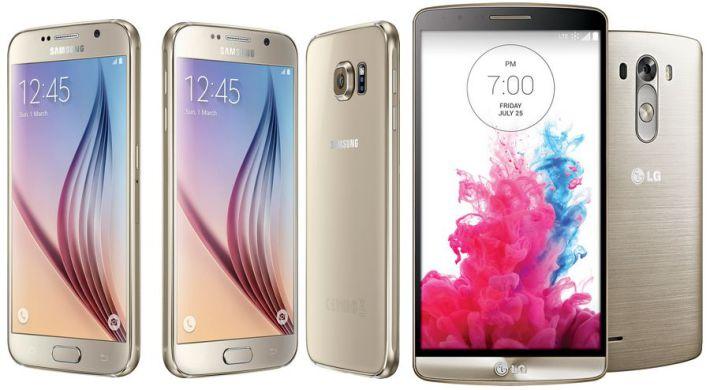 comparatif Galaxy S6 LG G3