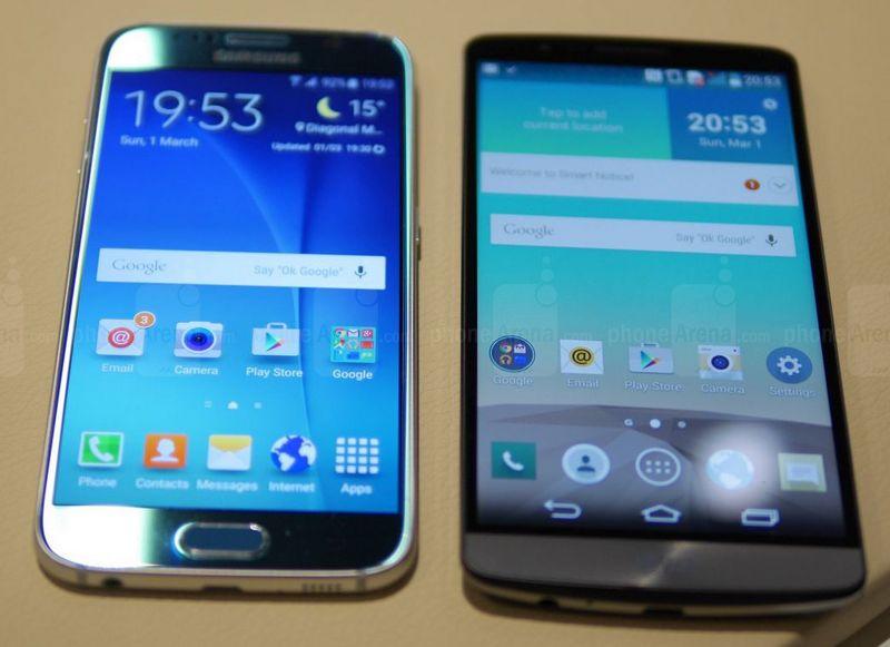 Galaxy S6 LG G3 écran