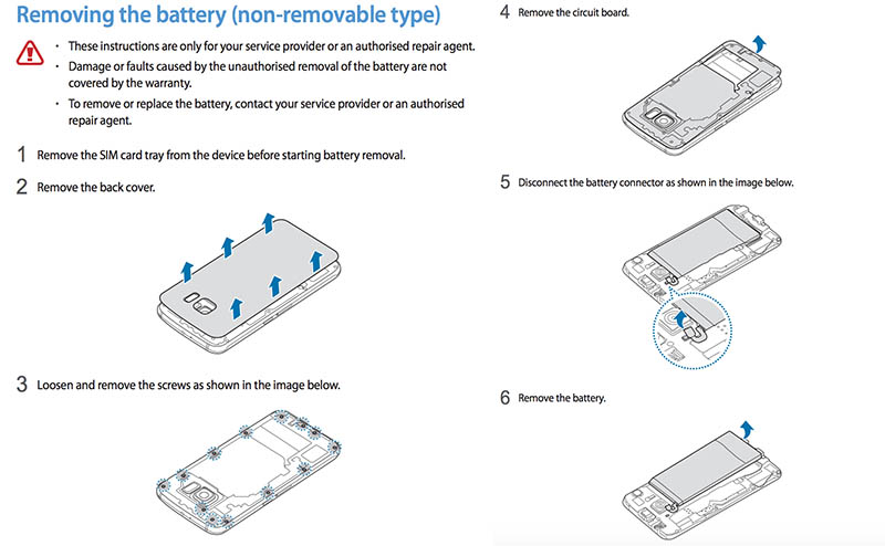 galaxy s6 batterie amovible expert