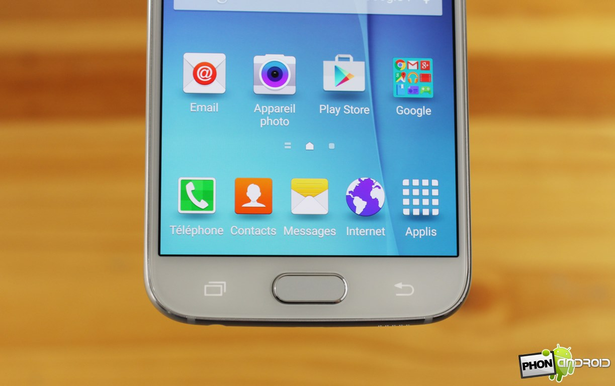 Galaxy S6 bouton tactile