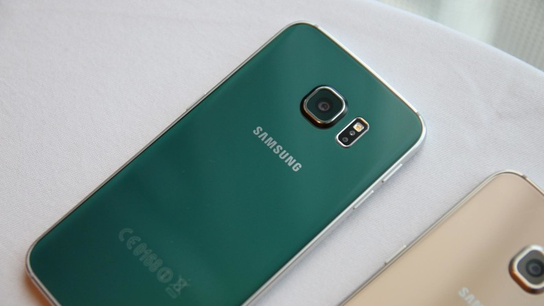 Galaxy S6 Edge, le dos