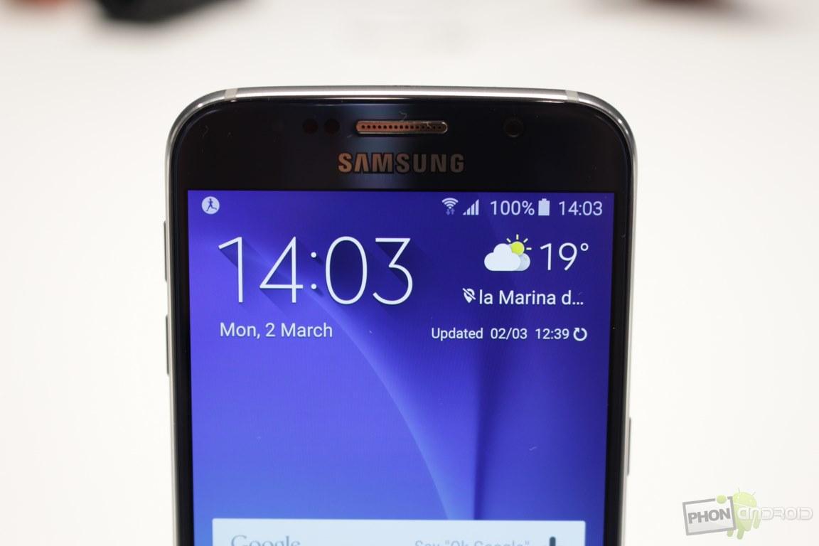 Samsung caméra frontale