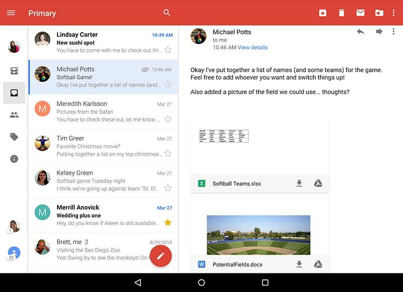 gmail mise a jour google drive