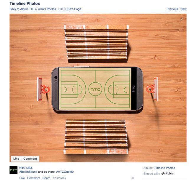HTC One M8 Facebook