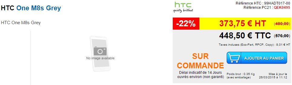 prix HTC one M8S