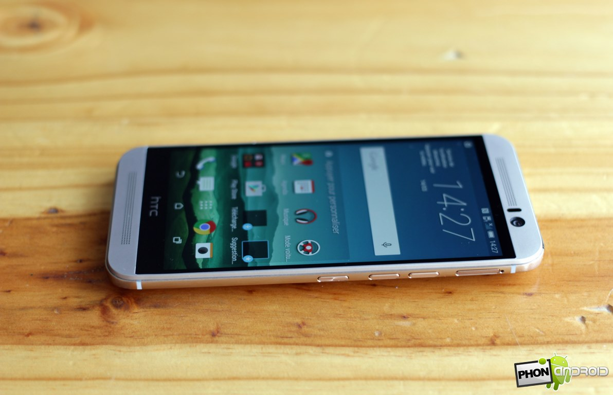 htc one m9 angle vision ecran