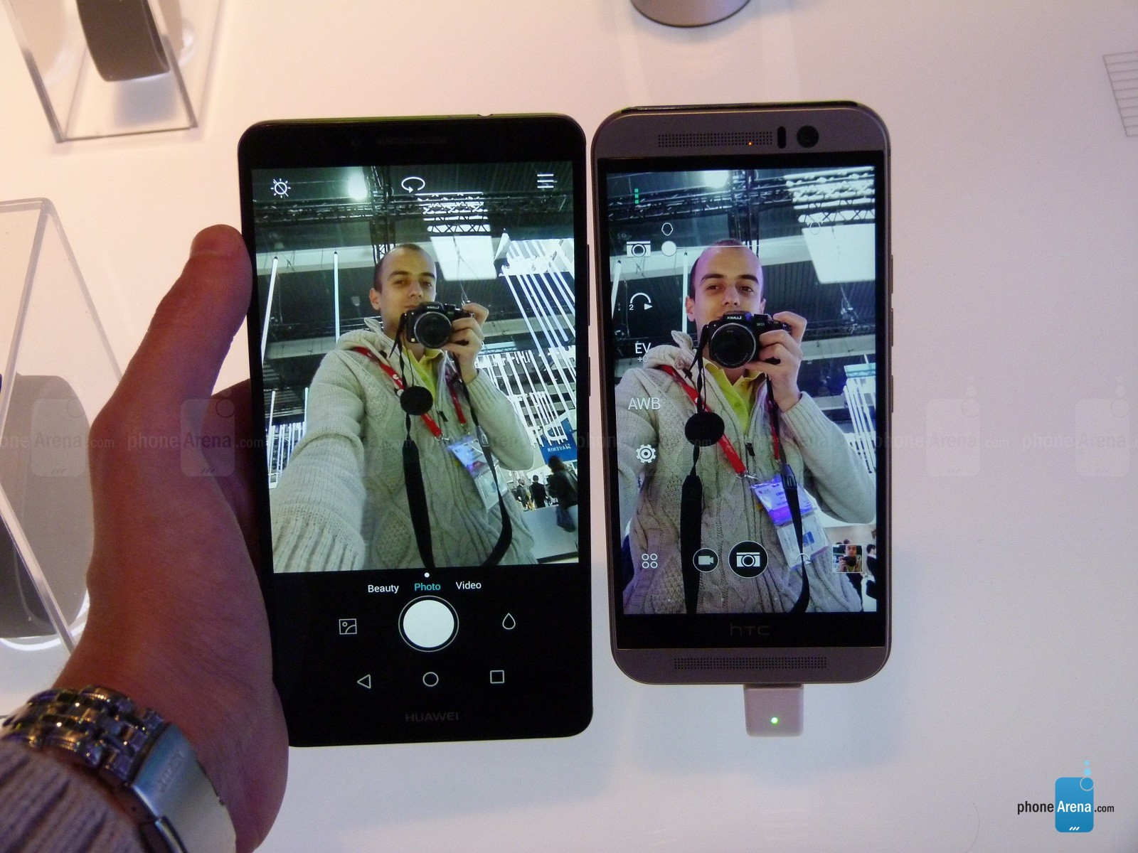 HTC One M9, le comparatif en selfies