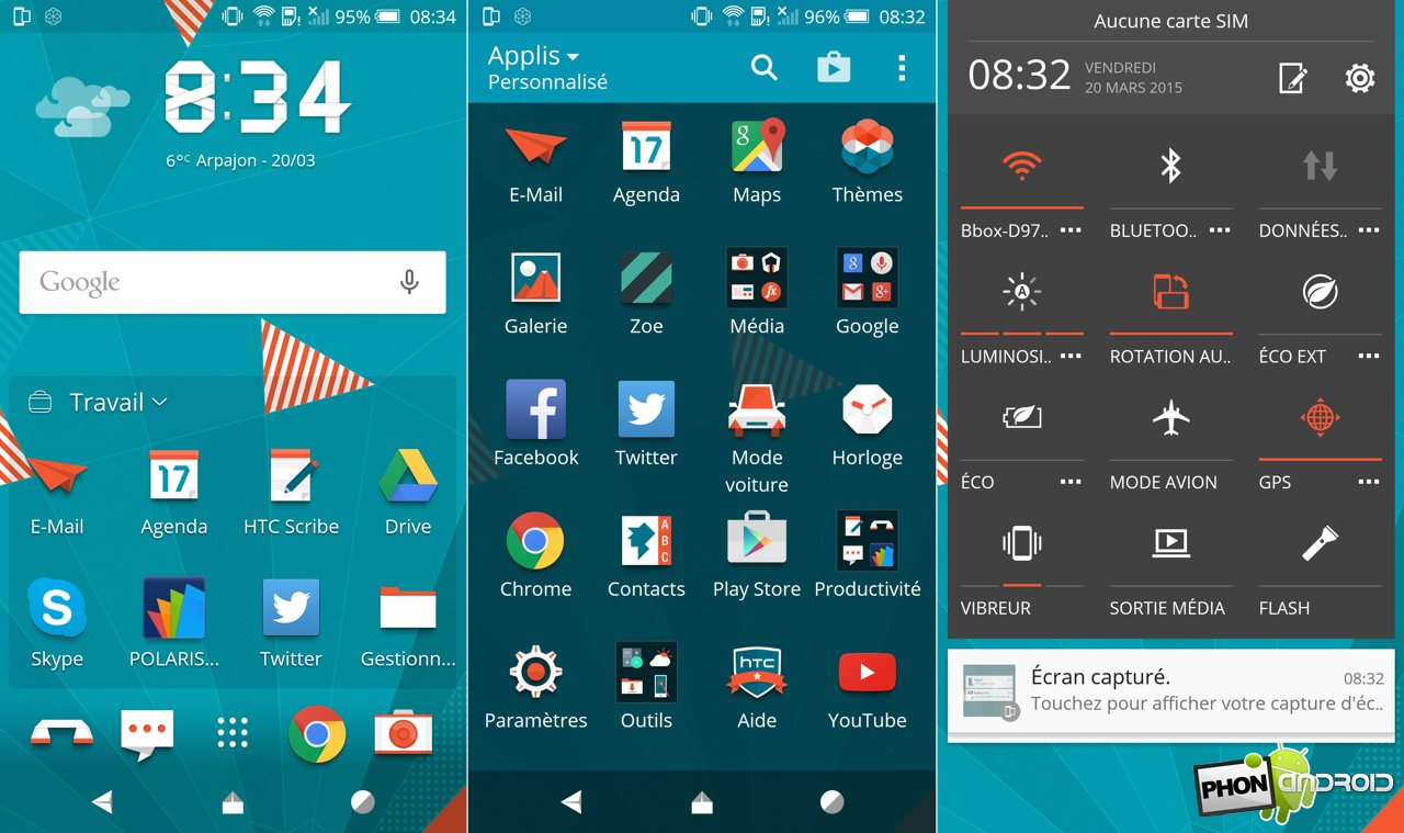 htc one m9 theme exemple
