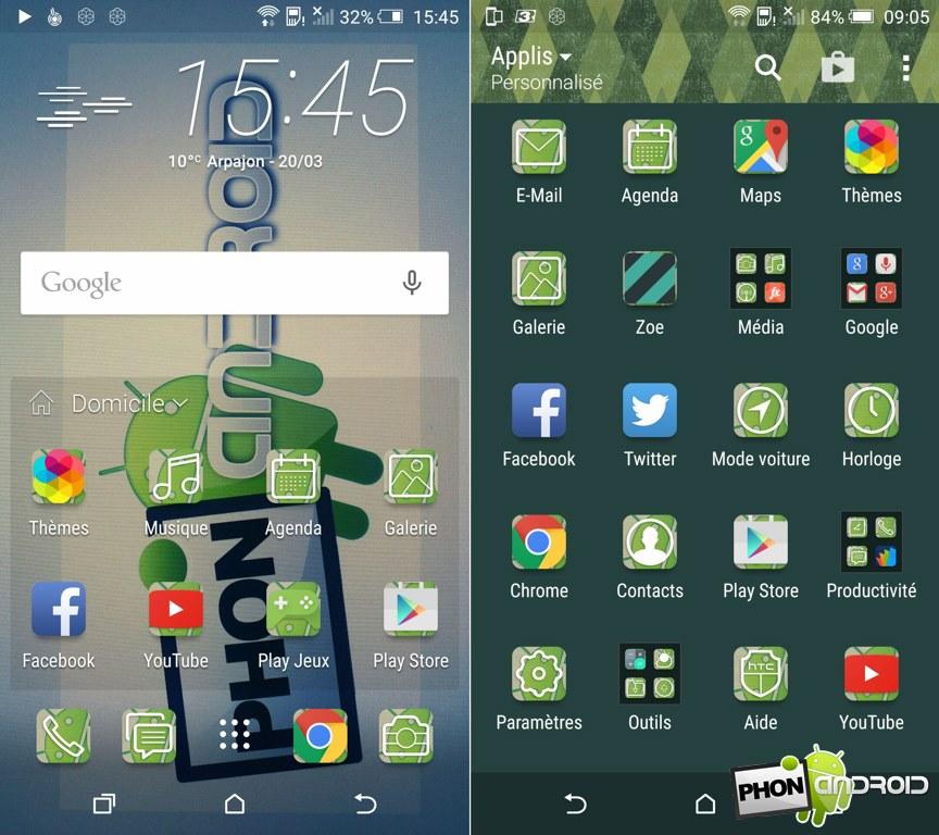 HTC One M9 createur themes