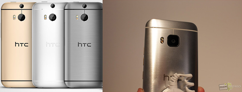 htc one m9 vs htc one m8 appareil photo