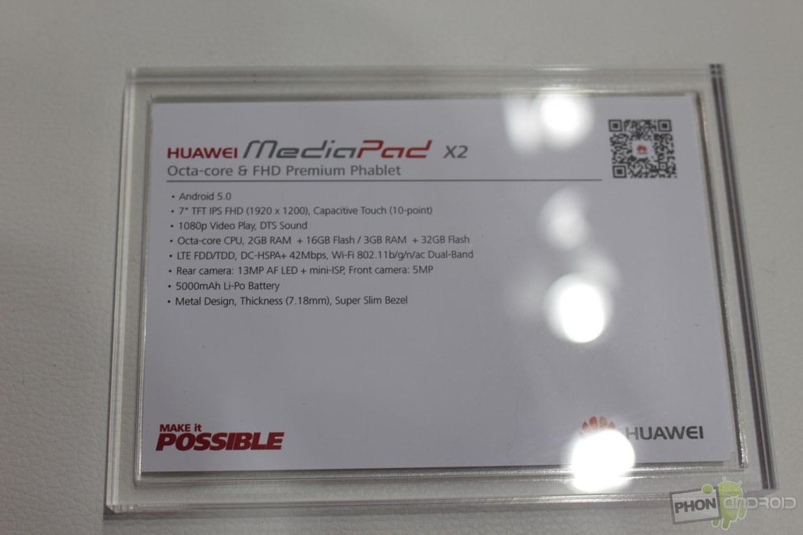 Huawei MediaPad X2, notre prise en main en images et vidéo