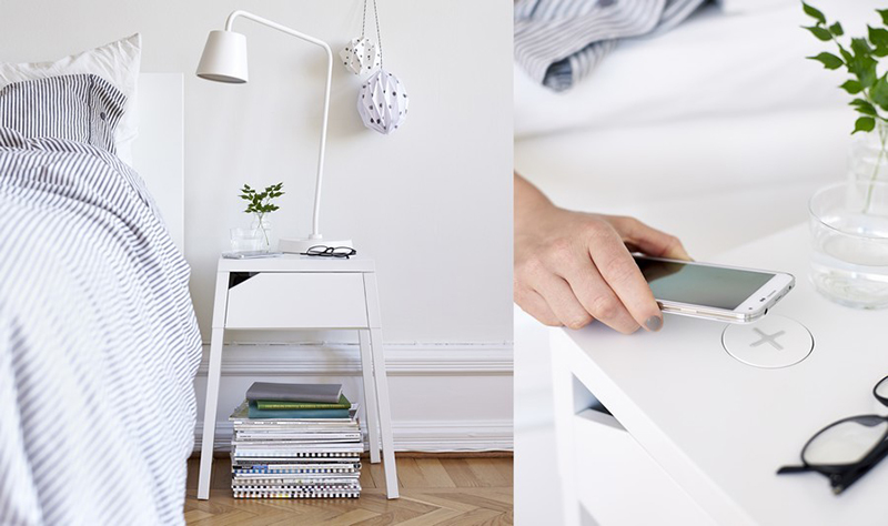ikea meubles recharge smartphone