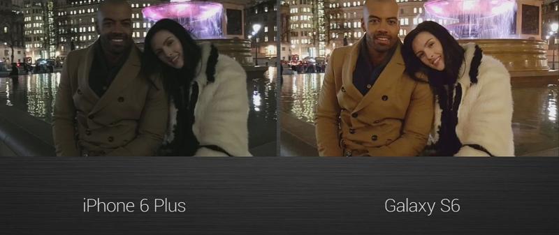 Galaxy S6 vs iPhone 6 Plus capteur photo