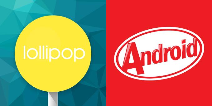 kitkat lollipop repartition août 2015