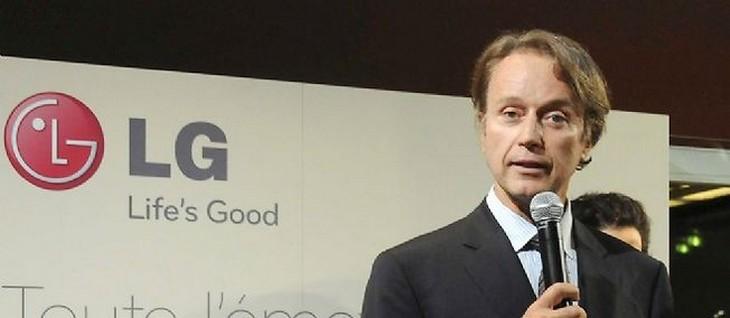 Eric Surdej, ancien directeur de LG France. Crédit : GHNASSIA ANTHONY/SIPA