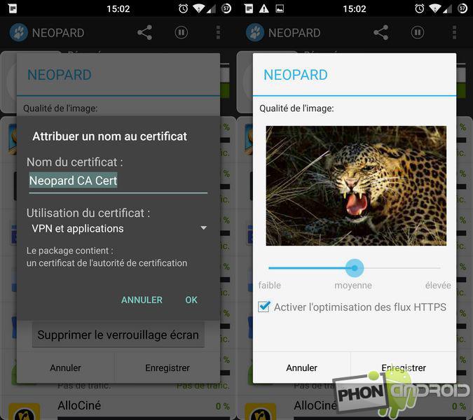 neopard lancement application