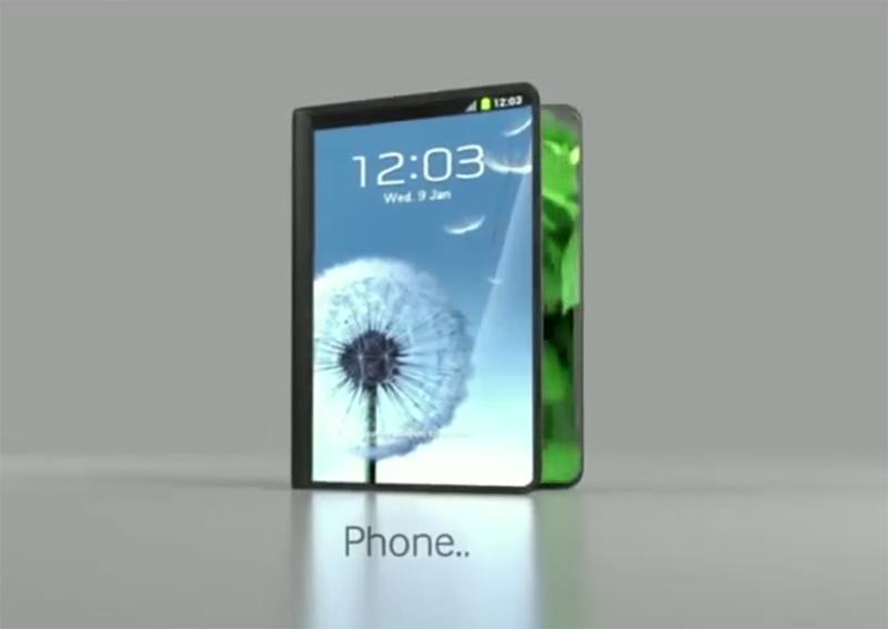 samsung premier smartphone pliable