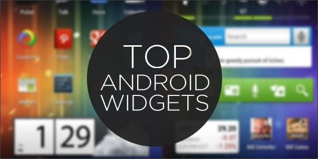 selecton widgets android