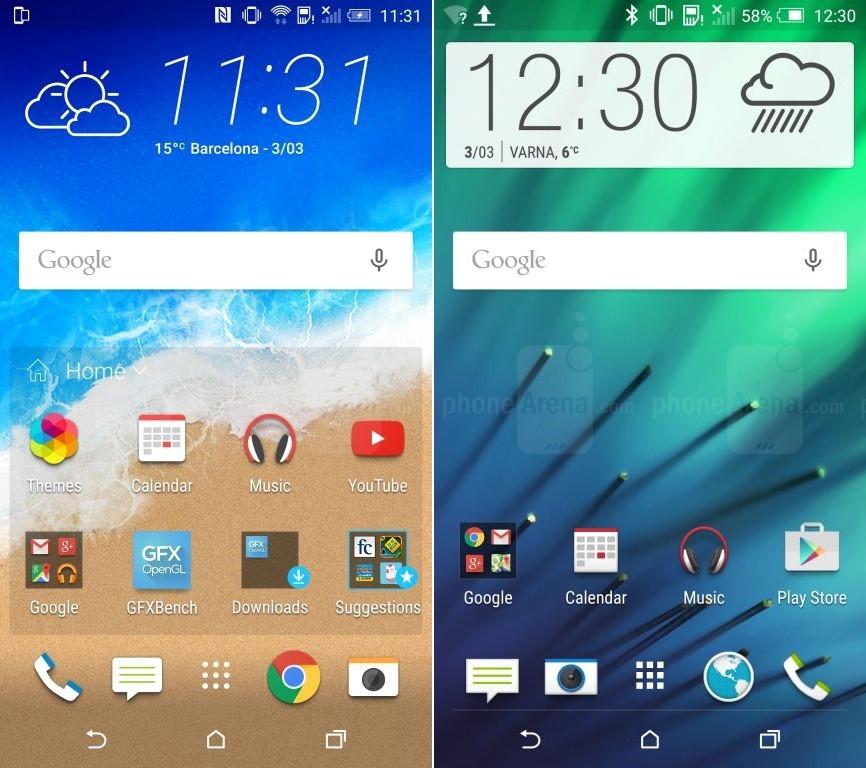 HTC One M9 HTC Sense 7 accueil
