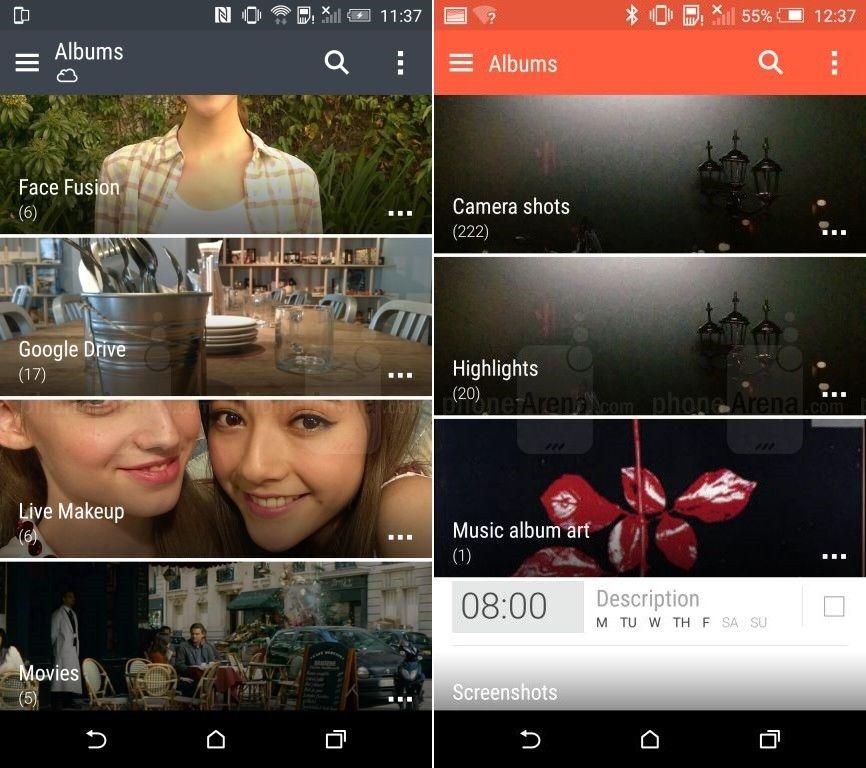 HTC One M9 HTC Sense 7 Galerie