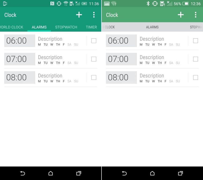 HTC One M9 HTC Sense 7 Alarmes